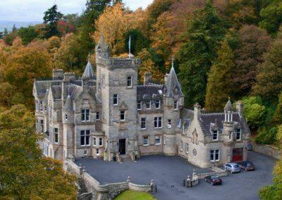 kinettles castle drone shot 11