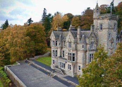 kinettles castle drone shot 5