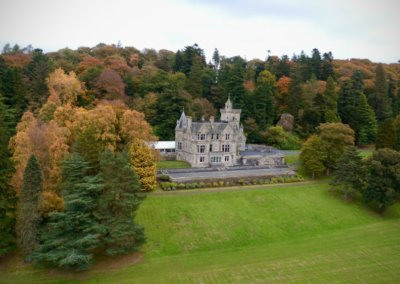 kinettles castle drone shot 9